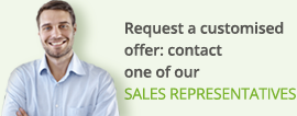 Request a customised offer: contact one of our sales representatives